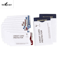 RFID Blocking Sleeve 1 Rated Credit Card Passport Identity Theft Protection Case Set Shields Radio Frequency