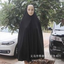 Women Muslim Black Batwing Sleeve jilbaband Abaya Robe Islamic prayer Clothes Islamic Khimar Hijab Scarf 63002