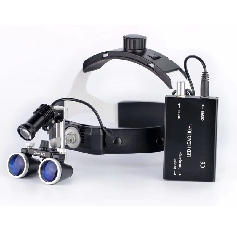 3.5X High Intensity LED Light Surgical Operation Medical Magnifier with Dental Headlight Surgical Dental Loupes 2016 high intensity dental loupe headlight surgical headlamp medical surgery magnifier led head light