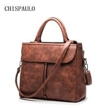 Chispaulo nuevo 2017 primera marca de lujo de las mujeres bolsos de cuero genuino mujeres de la manera bolsos de hombro señora bolsa femininas x68