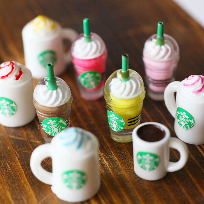 Kawaii Cute Toy Mini Model 1 12 1 6 Starbucks Coffee Cup