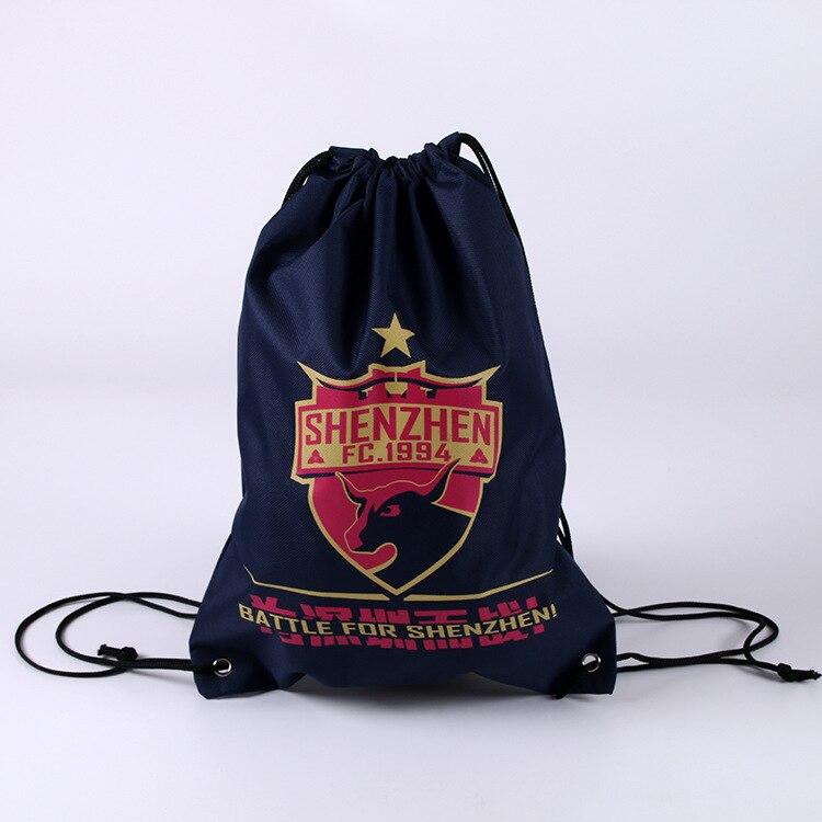 Wholesale Custom Drawstring Gift Bag Sports Gym Logo Promotional Drawstring Backpack Bag