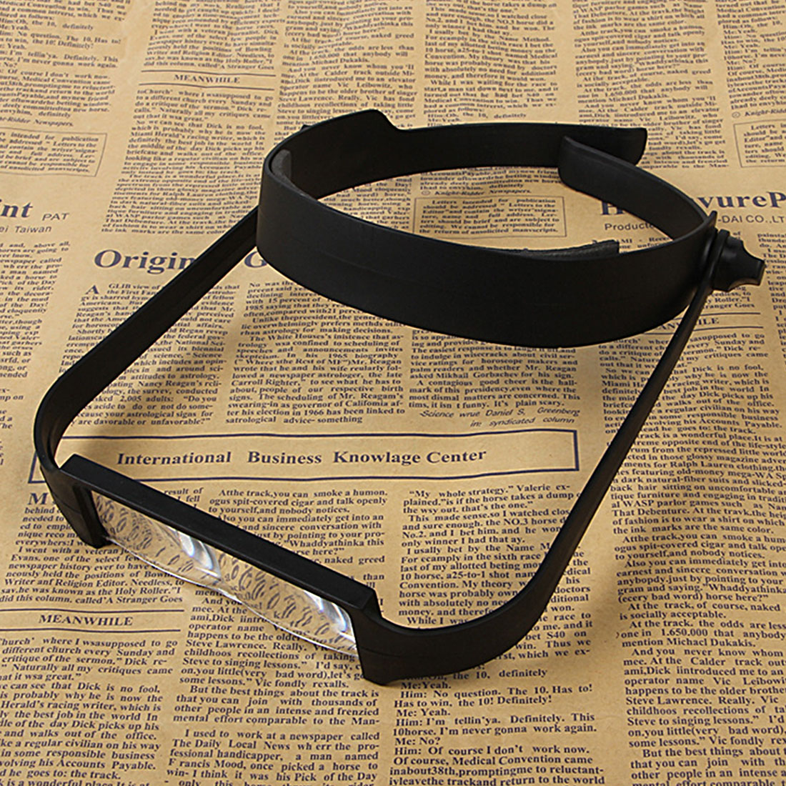 Black Replaceable Lens Loupe Magnifier 1.6x 2.0x 2.5x 3.5x Head Headband Magnify Glass Lens Loupe Made of Optical Glass