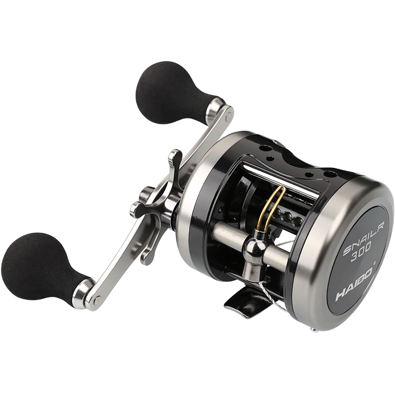 Haibo 6.5kg 5BB 5.5:1 295g Full Metal Trolling Fishing Reel Right Hand Casting Drum Jigging Boat Saltwater Baitcasting Reels trolling reel 9 1bb drum wheel carp baitcasting reels centrifugal brake casting saltwater fishing reel super power drag 30kg