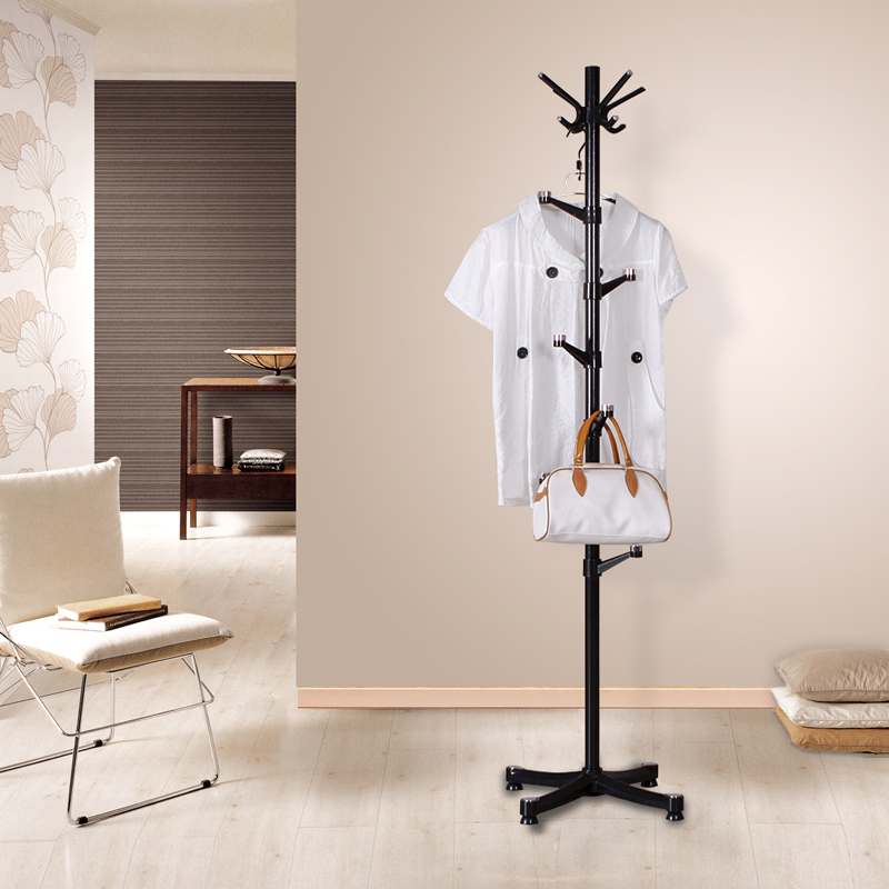 Metal Floor Coat Hanger Assembly Simple Coat Rack Living