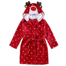 цены Little Girl's Flannel Bathrobe ,Red Christmas Deer,120: 5T
