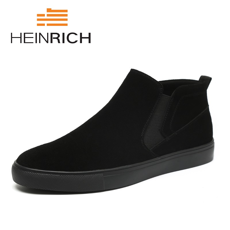 HEINRICH Spring/Autumn Men's Boots New Fashion Brand Comfortable Ankle Boots Lightweight Round Toe Chelsea Boots Botte Homme