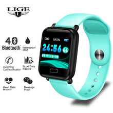 LIGE Smart Watch Heart Rate Blood Pressure Monitor fitness tracker Smart Bracelet Waterproof Sport Smart Band For Android IOS все цены