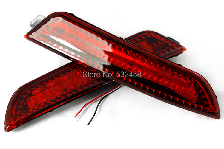 New Car styling 2 PCS Parking Warning For 2008 2009 2010 Hyundai Elantra DC 12V Rear Bumper Reflector Light Red LED Fog Lamp