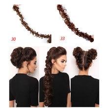 HiDoLA  Fashion Women Synthetic Hair Bun Long Curly Chignon Extension headwear