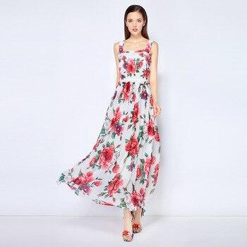 New Designer High Quality Women's Fashion Dress Peony Flower Amazing Runway Elegant Casual White Beach Ladies Summer Midi Dress