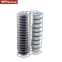kitchen accessories 32 Pod Chrome Tassimo Coffee Capsule Holder kitchen organizer Tower Stand Rack Capsule Tassimo