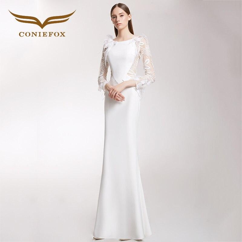 CONIEFOX 32233 piuma moderatore Sexy personalità sexy Ladies Retro elegance sirena prom dresses partito abito da sera abito lungo