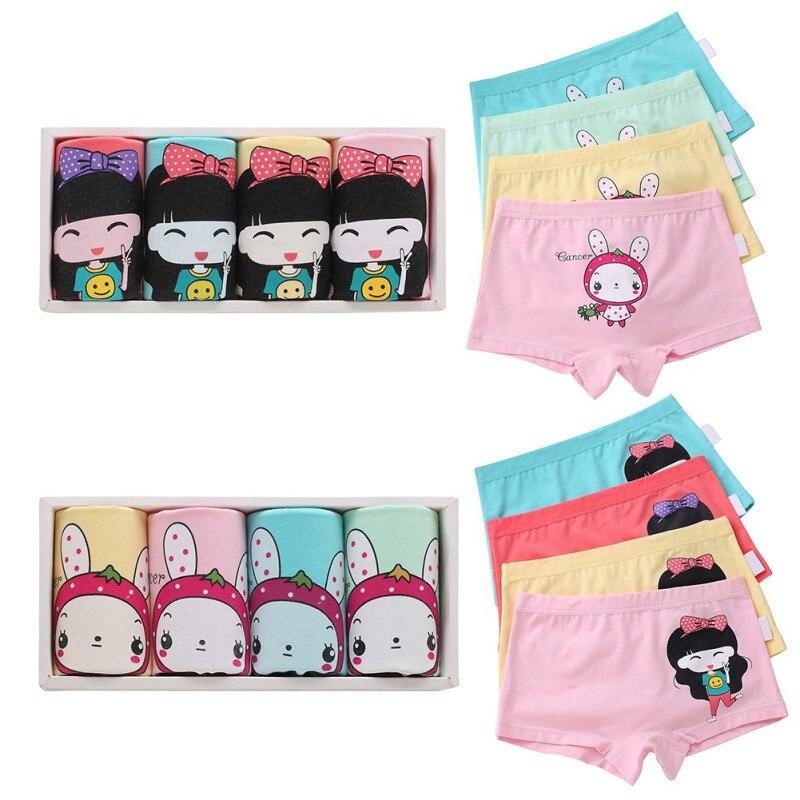 a4efb0f05afb 4 piezas ropa interior para niños, niños, niñas, dibujos animados, bragas  de algodón, calzoncillos bóxer, Y13