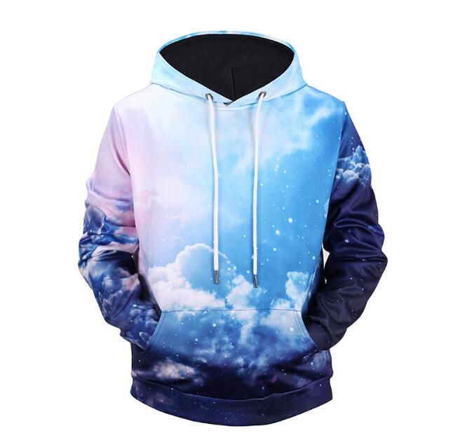 Men Cotton 3D Printed Sky Casual On Hot Sales Male Sweatshirts For Spring