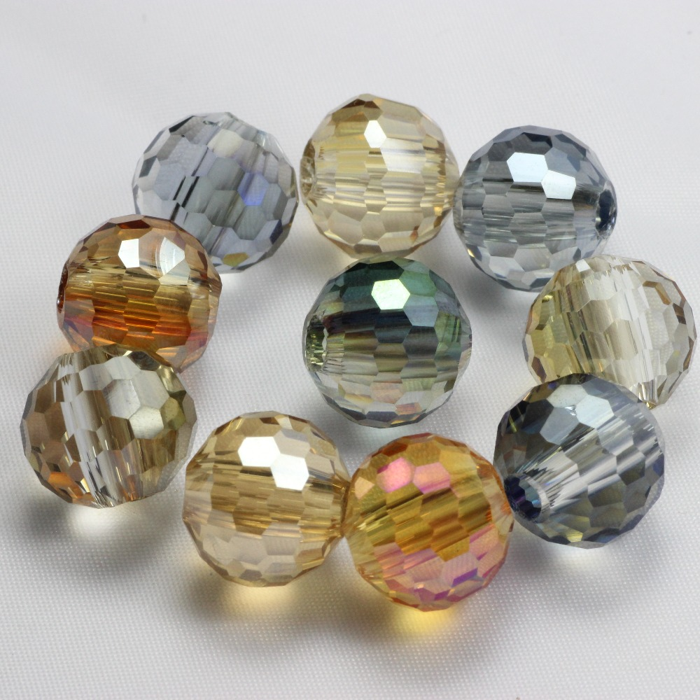 Beads & Jewelry Making Purposeful Zhubi Aaa 96 Faceted Ball Bead 14mm 10pcs Charms Plating Glass Beads Jewelry Making Diy Crystal Crafts Beading For Decoration Jewelry & Accessories