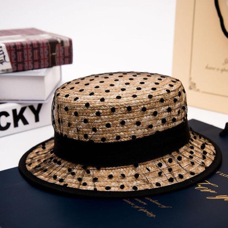 2019 Горячие черные кружевные солнцезащитные шляпы с бантом ручной работы женские Соломенная шляпка пляжные большой край шляпа Повседневная Девушка летняя кепка 55-58 см