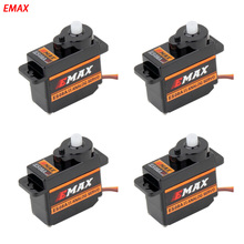 4pcs EMAX micro servo 9g motor analog metal steering gear brushless for  rc car helicopter boat accessory