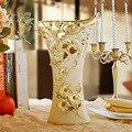 Jingdezhen Cerâmica Vaso Da Decoração decoração sala de estar móveis e ornamentos de vaso de flor novo gabinete TV