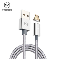 Mcdodo Magnetic Micro USB Cable Woven Fabric Indicator Light Cable 1 2m 2 4A Fast Charging