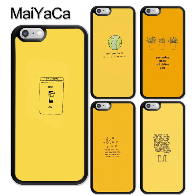cheaper 32a96 109ff US $2.99 5% OFF|MaiYaCa Yellow Aesthetic illustration Art Phone Case For  iPhone 6 6S 7 8 Plus X XR XS MAX 5S SE Rubber Soft Cell Housing Cover-in ...