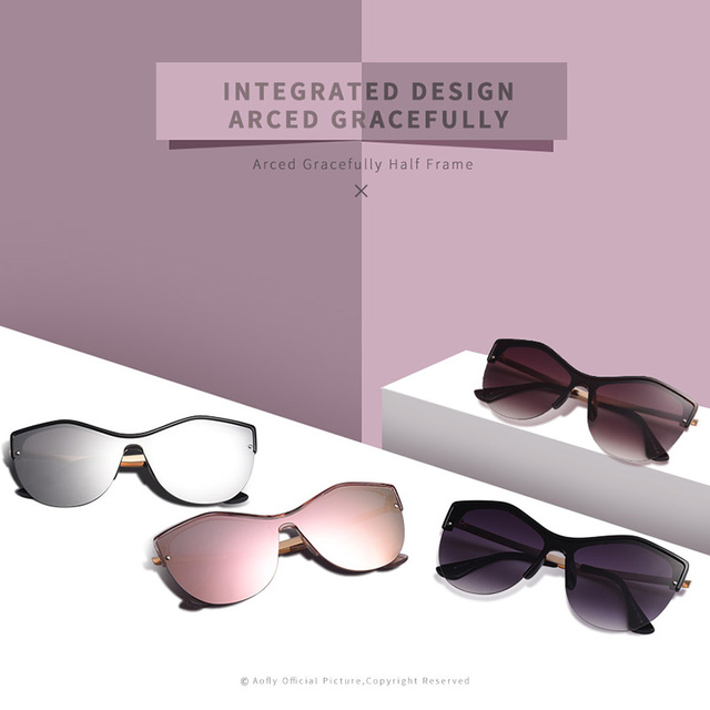 AOFLY BRAND DESIGN Women Cat eye Sunglasses 2018 Female Retro Style Shades UV400 Oculos de sol Feminino A113 1