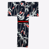 Japanese Men Kimono Bathrobe Dress Male Koi Fish Wave Summer Festival Traditional Suit Christmas Cosplay Samurai Kimono Costumes