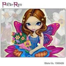 5D Diy Diamond Painting Full Drill Embroidery Cartoon beauty Mosaic Cross Stitch Handmade Arts Crafts happy mothers day jasmine