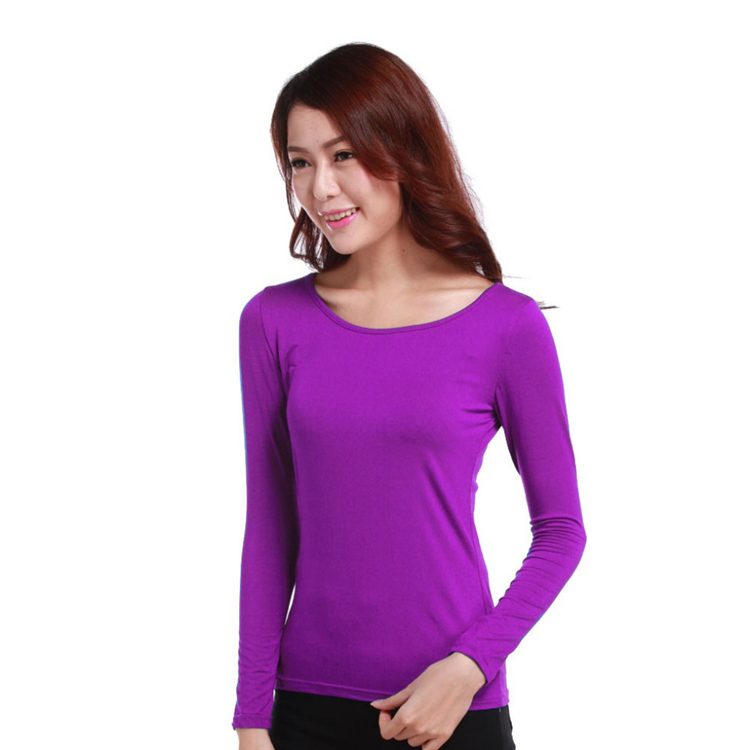 d4cc7057e589c5 Islamic Clothes Elastic Casual O Neck Modal Muslim Women Long Sleeve  Stretch T Shirts Slim Tops Free Size Blouses 7a99-in Islamic Clothing from  Novelty ...