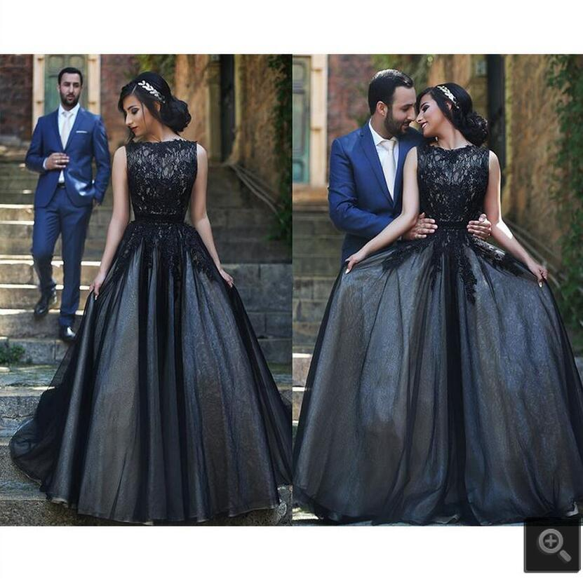 Vestido De Festa 2016 Black Lace Long Prom Dress Sleeveless Formal Ball Gown Prom Dresses Princess Prom Gowns Best Selling