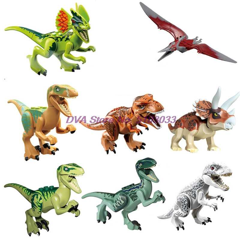 Kỷ JuRa Khủng Long Thế Giới Công Viên Velociraptor Spinosaurus Tyrannosaurus Rex Raptor Bảo Vệ Các Khối Xây Dựng Bộ Đồ Chơi Dành Cho Trẻ Em