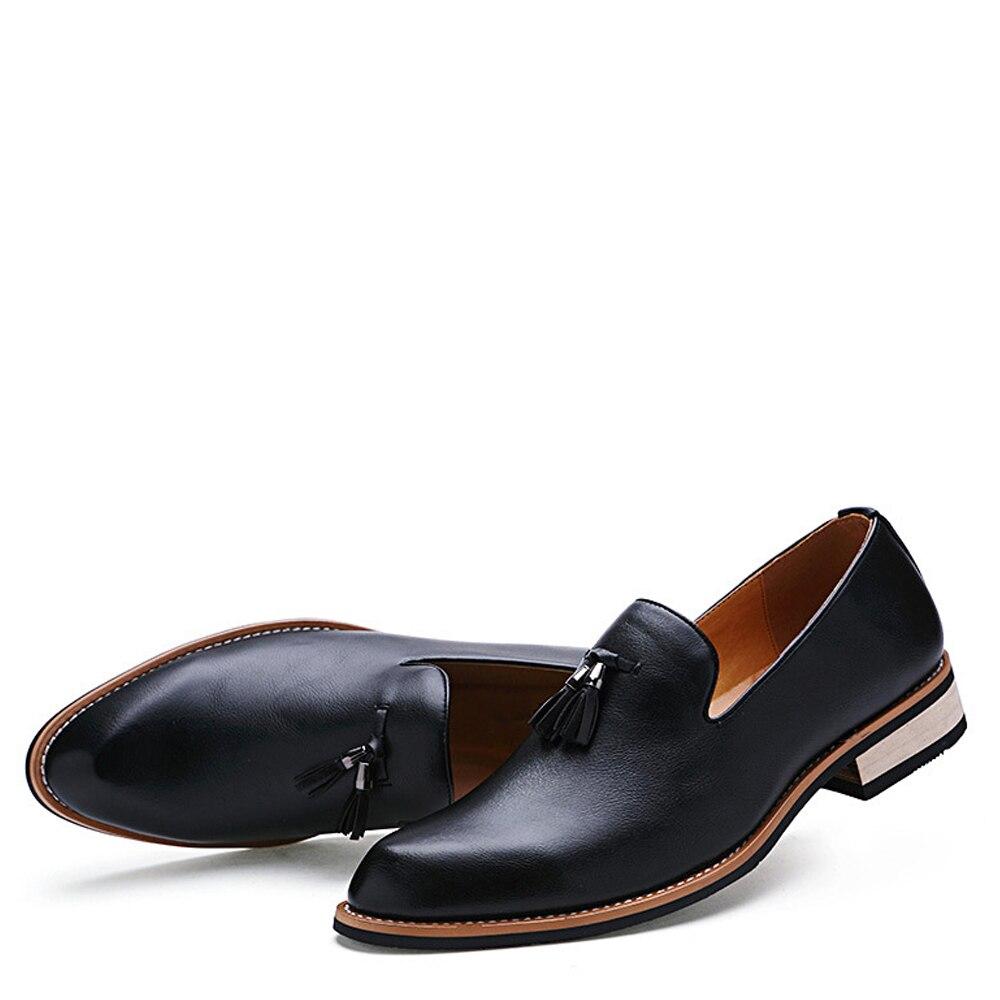 Cuir Véritable Chaussures Qualité Entraînement Nouveau Mode Haute Qffaz brown Occasionnels Richelieus En Printemps Sur Slip red Arrivée Hommes Plat De Black n8Omv0Nw