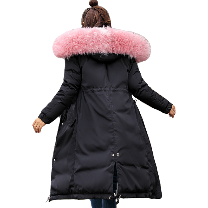 New Arrival Fashion Womens Winter Jacket 2019 High Quality Ladies Coat Long Parka Hooded With Fur Warm Outwear Parkas Womens-in Parkas from Women's Clothing    1