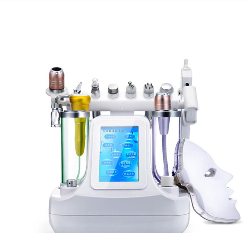 2019 New 11 In 1 Vacuum Face Pore Cleanser Massage Water Oxygen Jet Skin Lifting Facial Beauty Machine