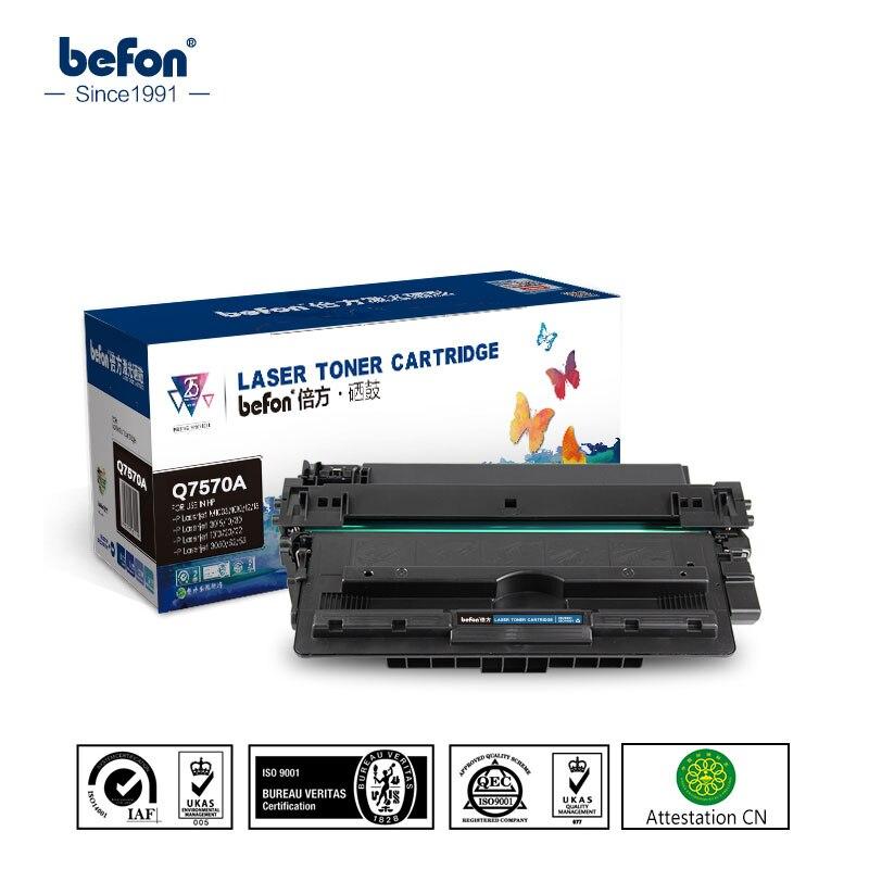 ФОТО befon Q7570A 7570A 70A 7570 Toner Cartridges Compatible for HP LaserJet Enteprise M5025 M5035 M5035x M5035xs LBP8610 8620 8630