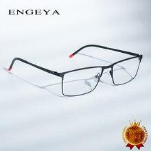 Homens Retro Limpar Óculos de Miopia Prescrição óptica Óculos De Metal  Quadro Quadrado Óculos Designer Quadro Dobradiça Única   . 7d9a8f6d78