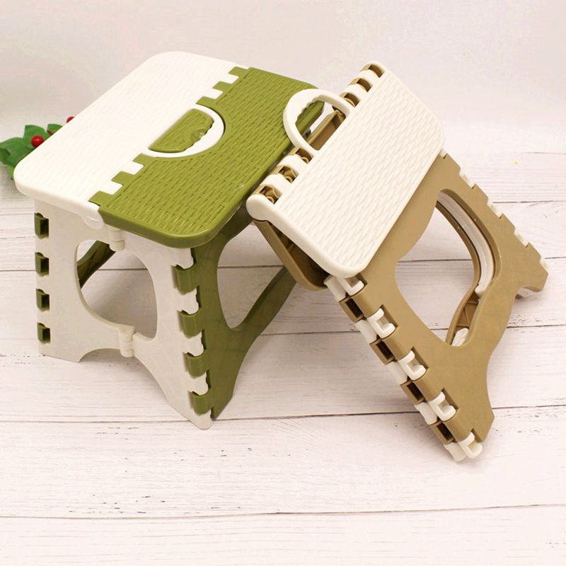 1 PCS Plastic Folding Step Stool Foldable Portable Outdoor Thickening Bench Home Chair bamboo bamboo portable folding stool have small bench wooden fishing outdoor folding stool campstool train