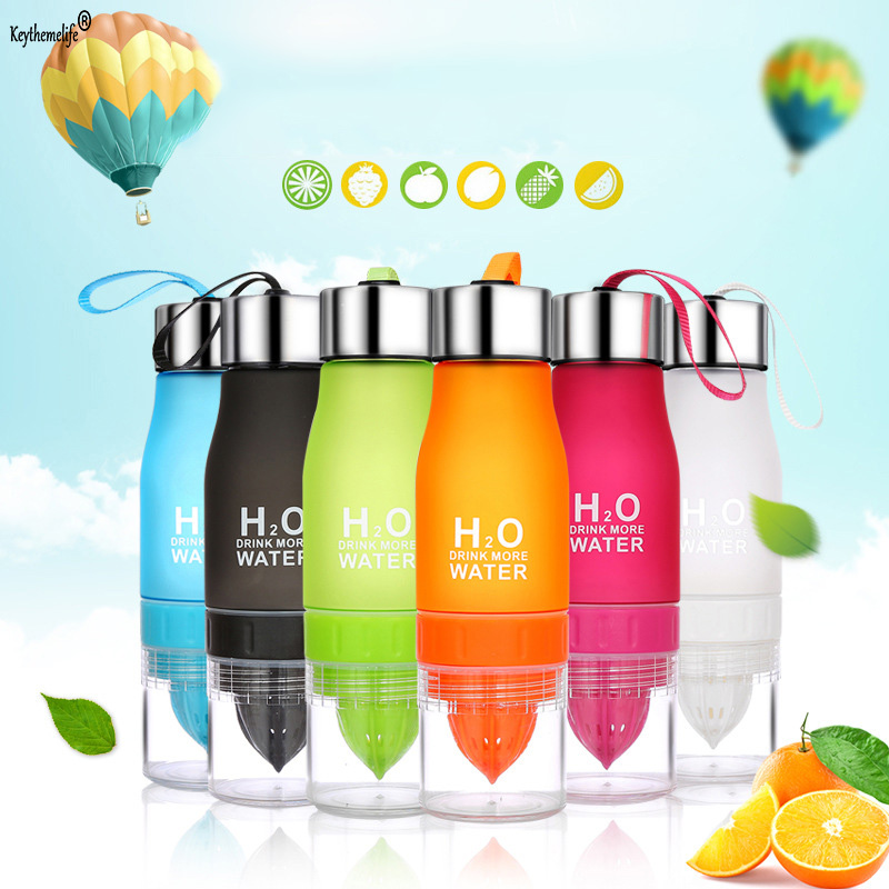 Keythemelife 650ml Sports Lemonade Plastic Bottle Colorful Scrub Hand Juice Creative Creative Juice Gift Bottles B