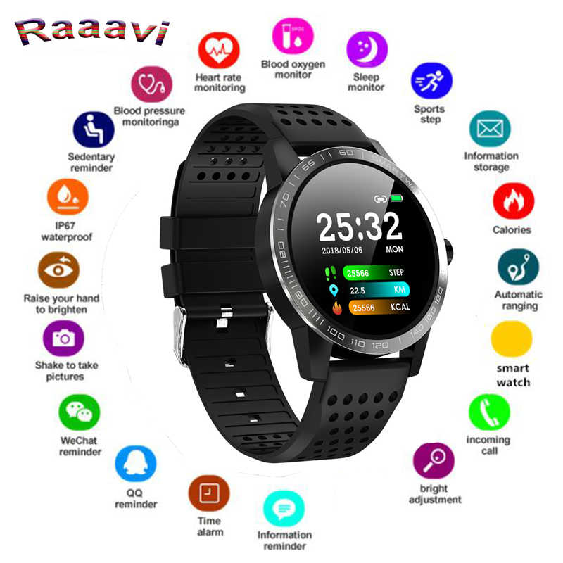 "Ravi 1.3"" Round Smart Watch Men T2 Heart Rate Monitor Sports Pedometer Bracelet IP68 Waterproof Smartwatch connect Android IOS"