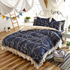Korean Style Bedding Set Flowering Branches Print High Quality Queen Twin Size Duvet Cover Bed Skirt