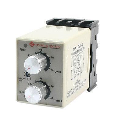 ФОТО DVM-A/36V DC 36V Protective Adjustable Over/Under Voltage Monitoring Relay