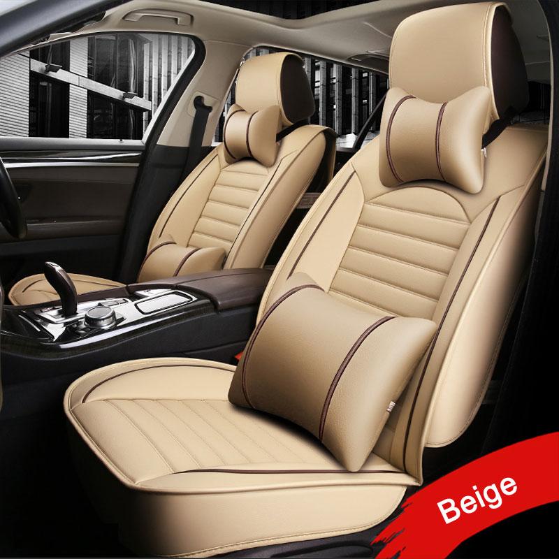 Car seat covers For Toyota RAV4 PRADO Highlander COROLLA Camry Prius Reiz CROWN Waterproof Protector car accessories styling