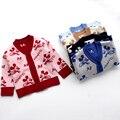 Lindo Suéter de Algodón Recién Nacido Bebé de la Manera Tops Cardigan Infantil de Dibujos Animados Bebé Suéter Botones de la Ropa Del Bebé 2017 Nuevo
