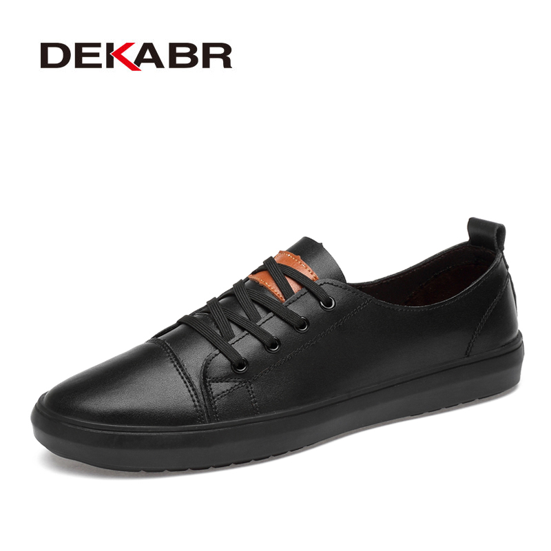 DEKABR Genuine Leather Men Shoes Lace-Up Men Casual Shoes New 2020 Fashion Breathable Male Footwear Spring Autumn Size 38-46