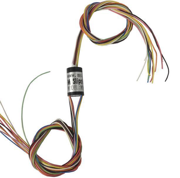 M slipring Dia.8.5mm 4 8 12 Canales Mini Anillo Colector para FPV Cardán Estabilizador De Mano Eléctrico msm-08-04u msm-08-08u msm-08-12u
