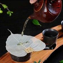 Чайное ситечко в форме листьев, лист, Чайный фильтр Bodhi, утечка, кунг-фу, чайные заварки, доступ, полый из листьев, персональный фильтр