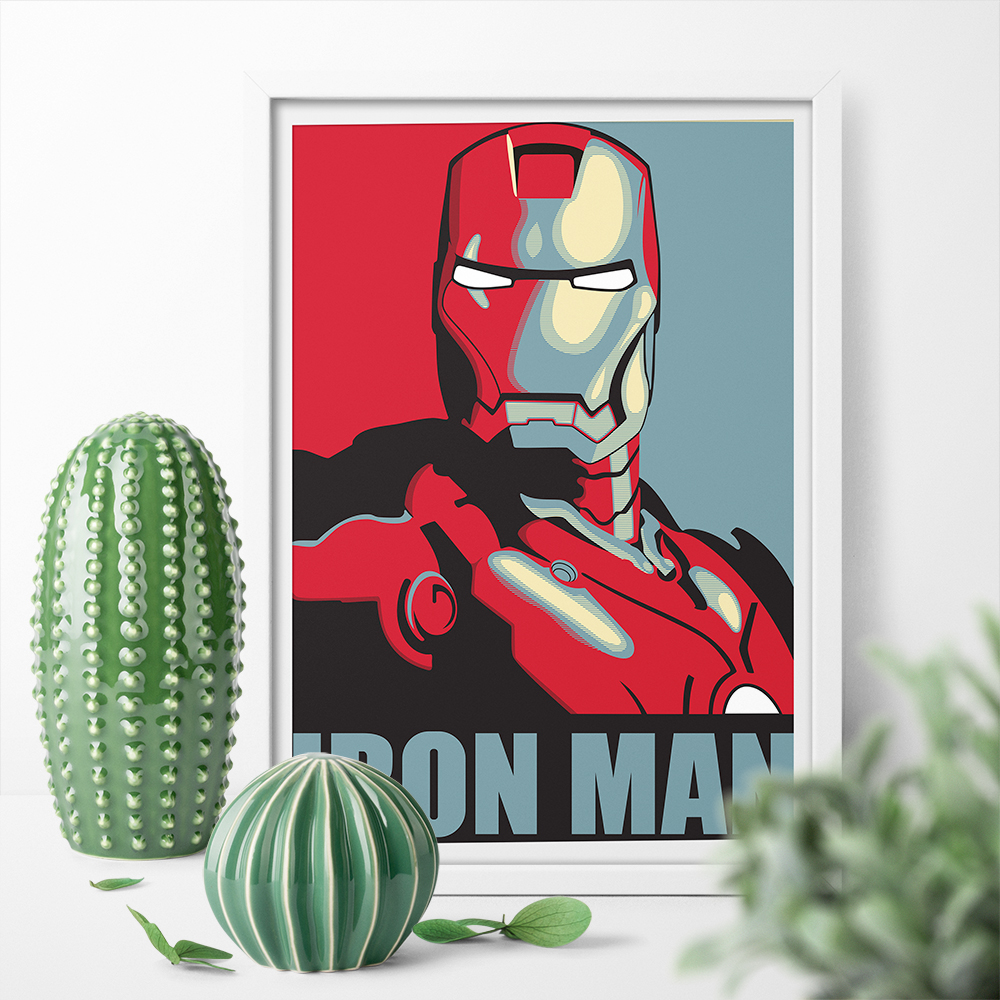Art Print Movie Iron Man Hope Poster Canvas Painting Wall Art Print Poster Home Decor Picture Print For Bed Room No Frame
