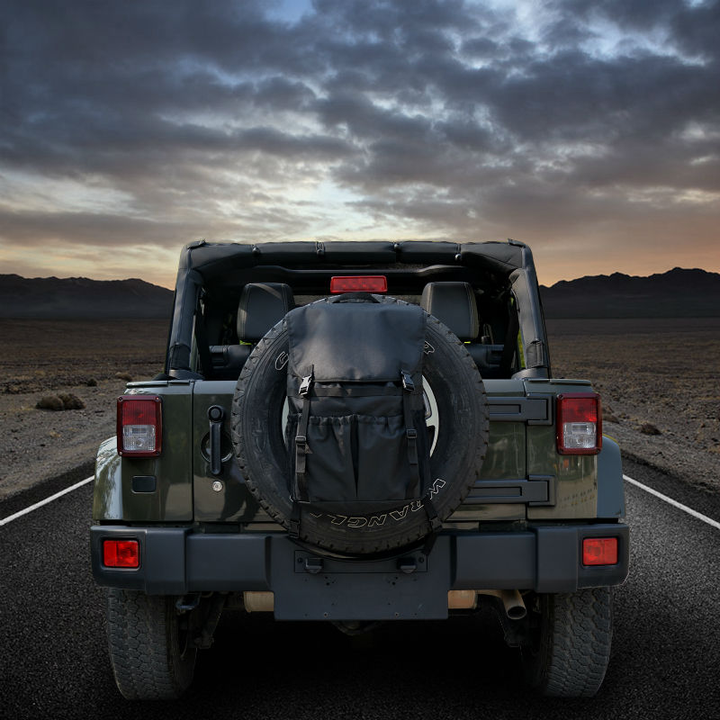 High capacity Backpack Cargo Bags Spare Tire Storage Bag For Jeep Wrangler JK TJ YJ Luggage