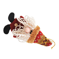 FJS-Cartoon Doll Christmas Tree Ornaments Christmas Supplies Gift Cute Puppet, White+Red Santa