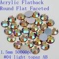 Acrílico Facted Natator Rodada Plana 1.5mm 50000 pcs AB Cores Contas Unhas Prego Arte de Cristal Pedrinhas Para Unhas Brilho decoração